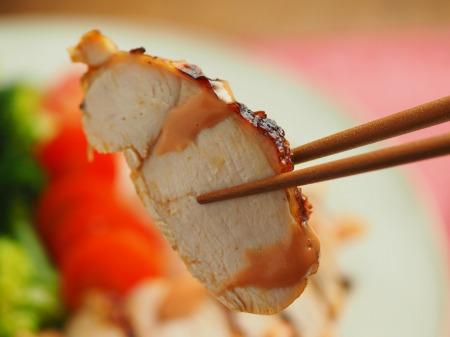 鶏むね肉のオーロラソース焼018
