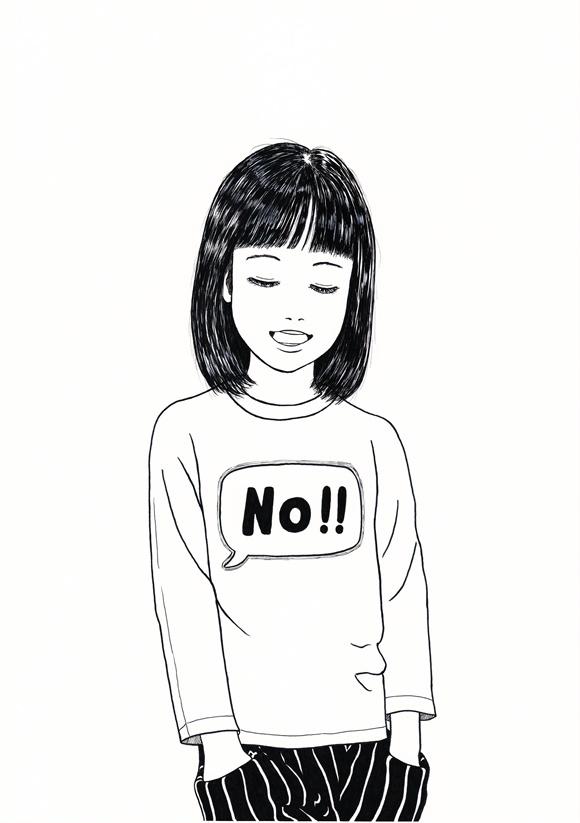まりのスケッチ 《宿題をやりたくないときに着るTシャツ》