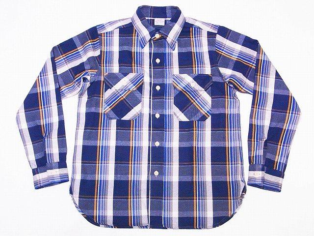 ウエアハウス ネルシャツ C柄 3104 ネイビー