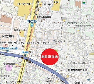 阿倍野筋3丁目売地 地図