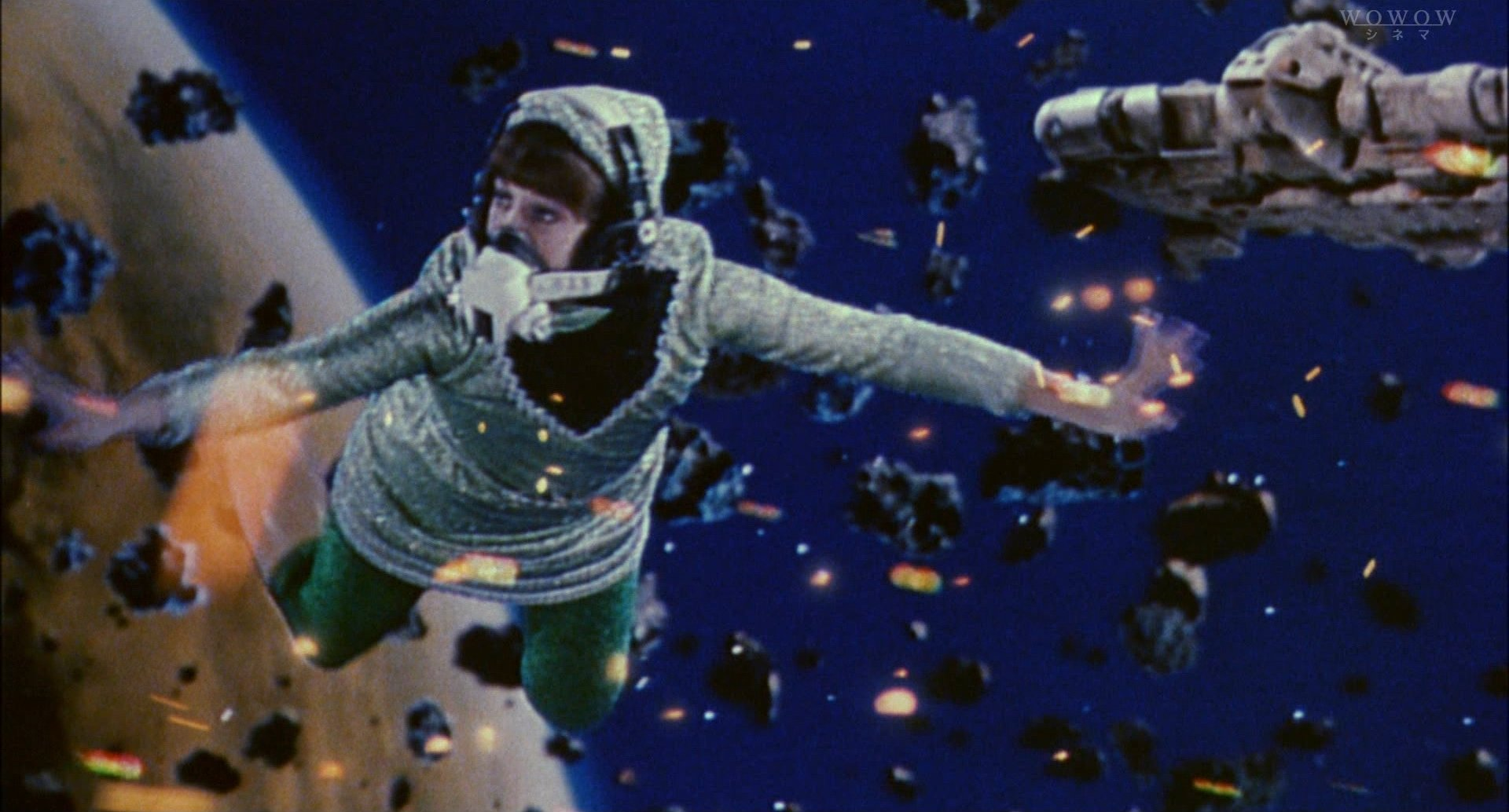 『宇宙からのメッセージ』ビデオ合成