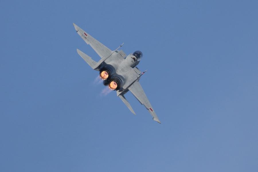 2018-11-18F-15イーグル戦闘機アフターバーナー007A0649
