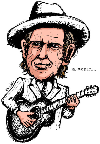 Keith Richards Rolling Stones caricature likeness