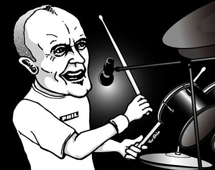 Phil Collins caricature likeness