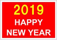 HAPPY_NEW_YEAR2019のポスターテンプレート・フォーマット・ひな形