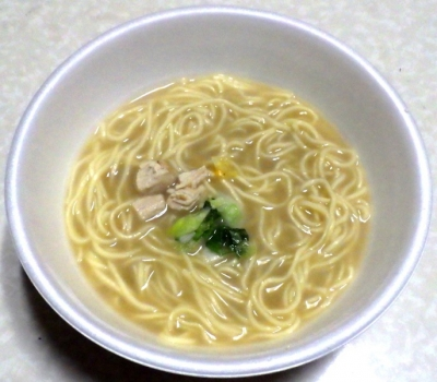 12/31発売 行列のできる店のラーメン 真鯛鶏白湯(できあがり)