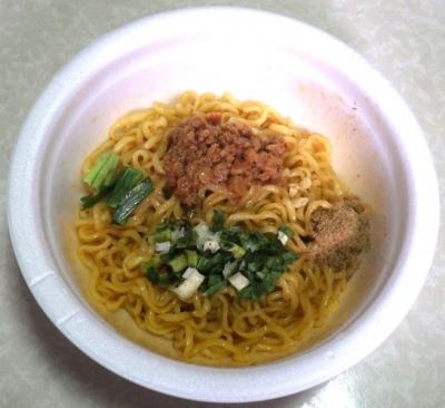 10/9発売 麺屋はなび 台湾まぜそば(2018年)(できあがり)