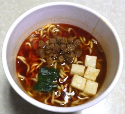 10/29発売 ラーメンぴあ 蝋燭屋監修 麻婆麺(できあがり)