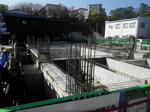 2018/11/10 基礎・地中梁・耐圧版コンクリート打設完了