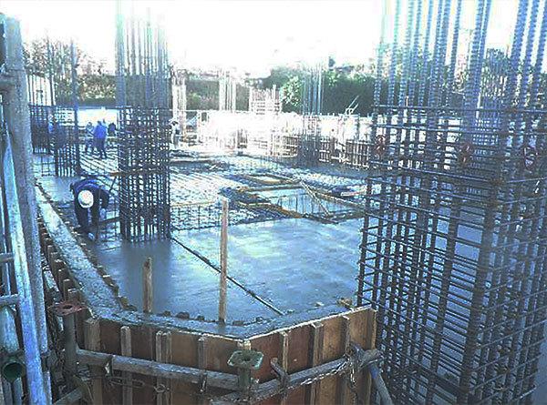 2018/12/29 1階躯体コンクリート打設完了