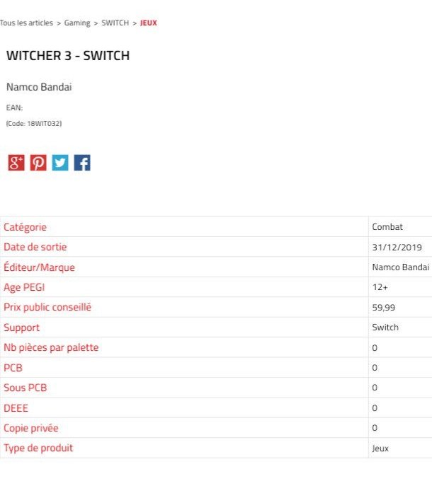 スイッチで『ウィッチャー3』が発売決定!発売元はバンダイナムコ