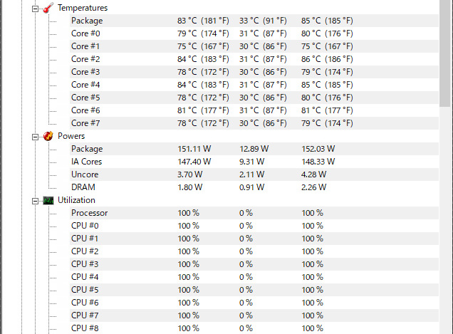 Core i9-9900K の発熱チェック - FPSgamer