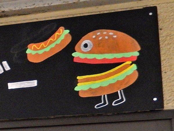 ハンバーガーの共食いキャラ