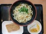 かけうどん+揚げ、おにぎり@セルフうどんおさき製麺