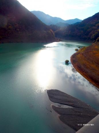 接阻峡湖の夕日