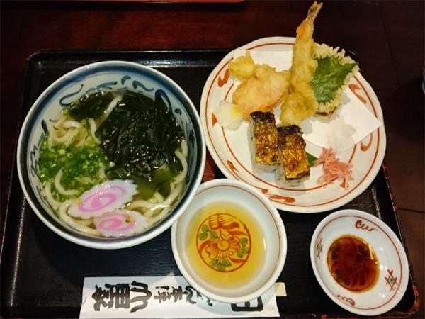 焼鯖天ぷらうどんセット