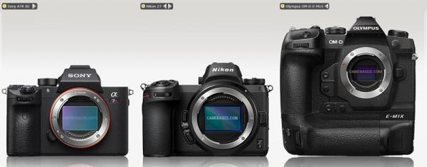 OlympusE-M1XCameraSizecomparisons (1)