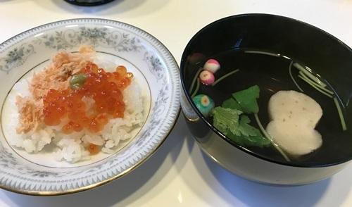 鮭いくらご飯
