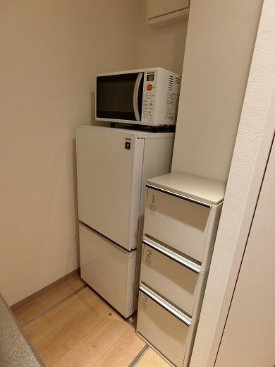 セッティング冷蔵庫ゴミ箱