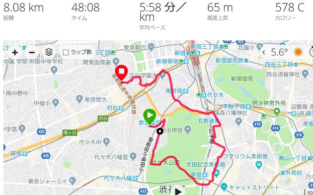 新宿ラン代々木公園コース