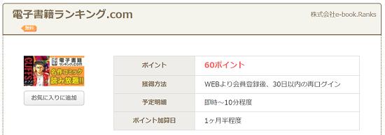 ちょびリッチ 電子書籍ランキング.com案件