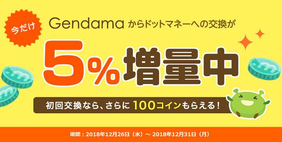 げん玉→ドットマネー交換
