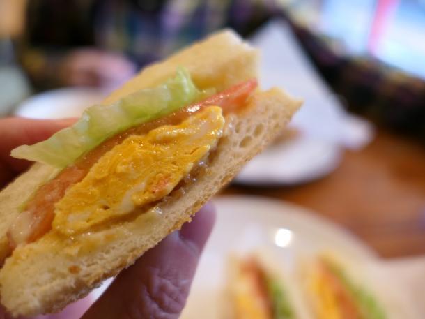 玉子のトーストサンド