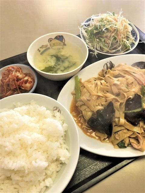 中国家常菜料理 吉祥飯店 干豆腐炒め定食