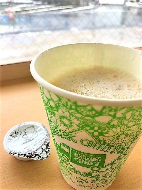 ローソン MACHI café ×AMAZING COFFEE アメージングカフェラテ1