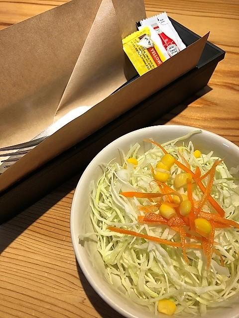 肉屋食堂 ハンバーガーサラダ