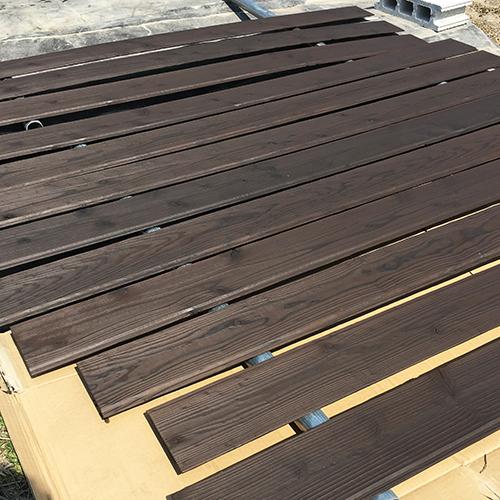 一人で作るブロック小屋⑭ ~突き出し窓を作る~②