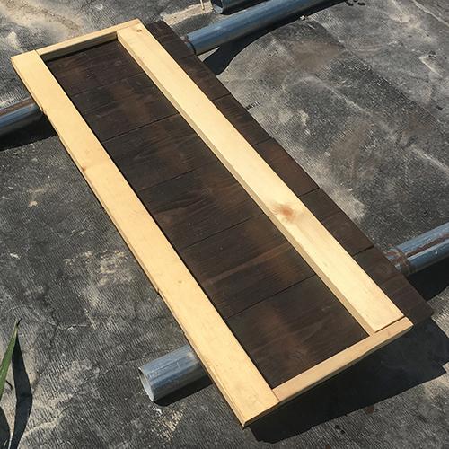 一人で作るブロック小屋⑭ ~突き出し窓を作る~③