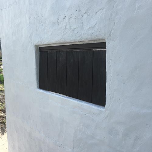 一人で作るブロック小屋⑭ ~突き出し窓を作る~⑤
