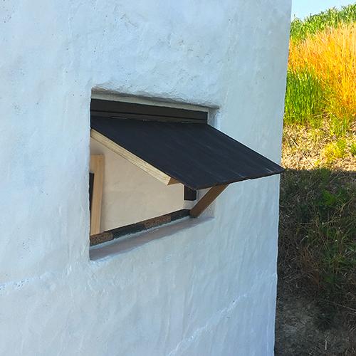 一人で作るブロック小屋⑭ ~突き出し窓を作る~⑥