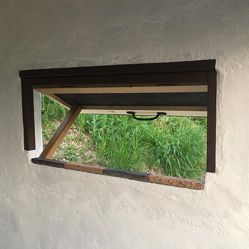 一人で作るブロック小屋⑭ ~突き出し窓を作る~⑦