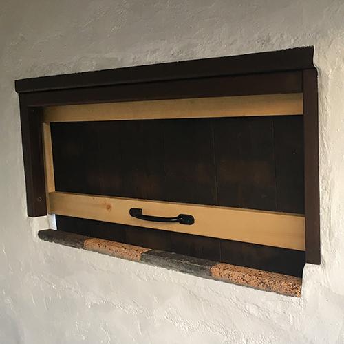 一人で作るブロック小屋⑭ ~突き出し窓を作る~⑧