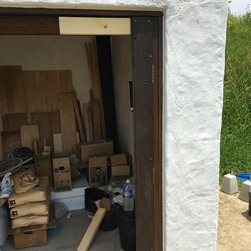 一人で作るブロック小屋⑮ ~親子扉を作る~③
