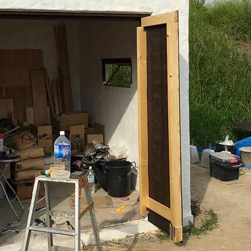 一人で作るブロック小屋⑮ ~親子扉を作る~⑤
