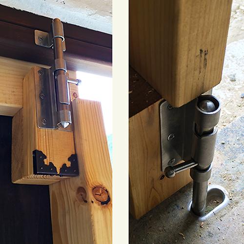 一人で作るブロック小屋⑮ ~親子扉を作る~⑥