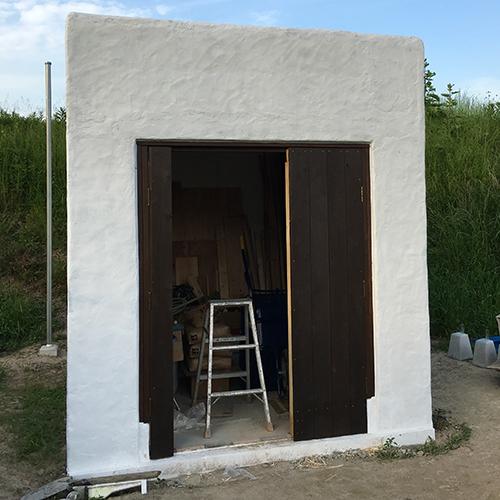 一人で作るブロック小屋⑮ ~親子扉を作る~⑦