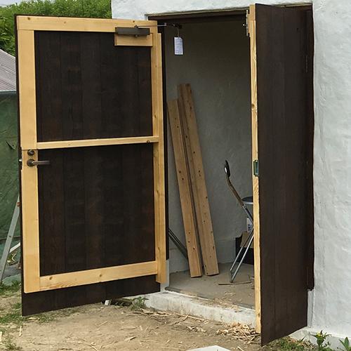 一人で作るブロック小屋⑮ ~親子扉を作る~⑧