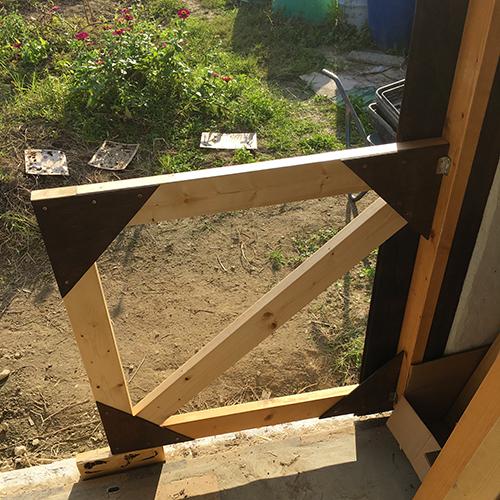 一人で作るブロック小屋⑮ ~親子扉を作る~⑨