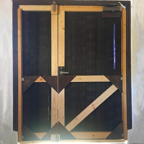 一人で作るブロック小屋⑮ ~親子扉を作る~⑩