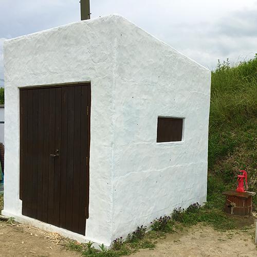 一人で作るブロック小屋⑮ ~親子扉を作る~⑬