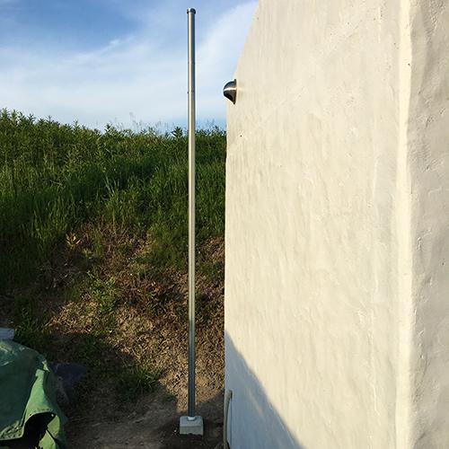 一人で作るブロック小屋⑯ ~小屋のソーラー照明~①