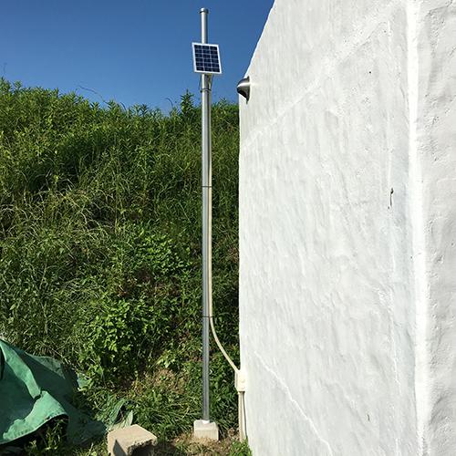 一人で作るブロック小屋⑯ ~小屋のソーラー照明~⑤