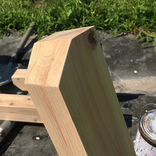 一人で作るブロック小屋⑰ ~パーゴラを作る~③