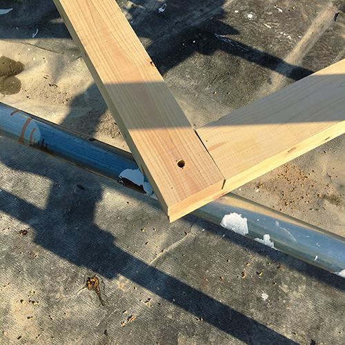 一人で作るブロック小屋⑰ ~パーゴラを作る~⑨