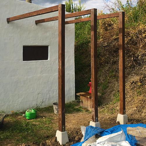 一人で作るブロック小屋⑰ ~パーゴラを作る~⑫