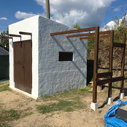 一人で作るブロック小屋⑰ ~パーゴラを作る~⑬